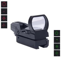 Hot Holographic 4 Reticle Vermelho / Verde Dot Sight Scope com montagem 1x22x33 Riflescope para Airsoft 20mm / 11mm Picatinny Rail Mount