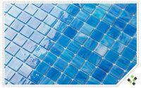 Wholesale Modern Swimming - Sky Blue Glass brick tiles,Kitchen backsplash wall tiles,Bathroom wall,Fireplace decor glass tile,Swimming pool home wall art tiles,LSBV4015