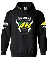 Wholesale Yamaha Motorcycle Jacket Xl - VR46 Honda YAMAHA Hoodie Motocross Sweatshirts Sports Casual Motorcycle Racing Jackets Men Chothing Black Blue Hoodies