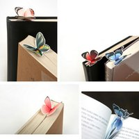 Wholesale Wholesale Paper Clips - Wholesale-5 pcs Creative Butterfly Bookmark Cartoon Book Mark Paper Clip New