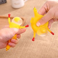 Wholesale Wholesale Splat Balls - Squeeze Chicken Decompression Splat Egg Venting Ball Anger Stress Reliever Ball Relief Toy Novelty Splatter Vent Eggs Funny Toys