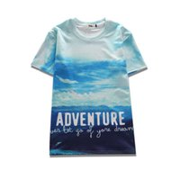 Wholesale S View Pink - 2017 sping new summer wear novelty tees 3d print all kinds of views mens short-sleeve womens tee unisex o-neck cool hip hop t-shirts