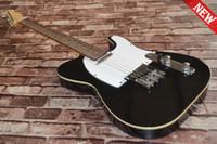 pescoço de guitarra venda por atacado-Um pescoço (sem lenço)! corpo sólido Guitarras Telecaster Black color OEM Guitarra Elétrica em estoque