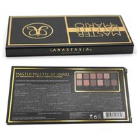 Wholesale Eye Master - 2017 ANASTAS BEVERLY HILLS MASTER EYESHADOW PALETTE BY MARI0 12 Colors Matte Water Resistant Natural Nude Makeup Eye Shadow Retro Palettes