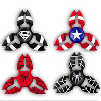 Wholesale Avenger Toys - 2017 Captain America Shield Crab Hand Spinner Spiderman Super Hero Finger Toys Spinner Spiderman Avenger Heros Handspinner