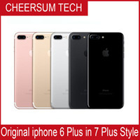 Wholesale Apple Back Housing - Without fingerprint HOT 2017 iphone 6 in 7 style Mobilephone 4.7 5.5 inch 16GB 64GB 128GB iphone 6 refurbished in iphone 7 housing Cellphone