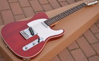 Wholesale Electric Guitar White Maple Neck - Custom Limited Deluxe Tele Caster Red Crimson Electric Guitar White Pickguard Maple Neck Rosewood Fingerboard White MOP Dot Inlay