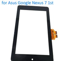 Wholesale Asus Nexus Replacement Glass - Wholesale- ALANGDUO for Asus Google Nexus 7 Tablet 1 Tablet Touch Screen Digitizer Glass Panel Front Sensor Touchscreen Window Replacement