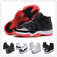 Wholesale Elastic Woman Top - Men Air Retro 11 Bred Concord Baskebtall Shoes 2017 Men Women Trainers Space Jam 72-10 Top quality Airs 11s Athletic Sport Sneakers
