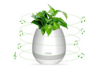 Wholesale Singing Can - TOKQI Novelty Light Smart flowerpot Smart Bluetooth Music Speaker With Light Touch Plant Can Sing songs Stress Toy For Anxiety Stress Relief