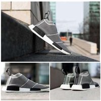 Wholesale Womens Striped Fashion Socks - NMD_CS1 PK Runner City Sock Nmd CS 1 Men Womens Running Shoes Fashion City Sock Cs1 Primeknit Grey Sports Sneakers boost size 36-44