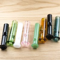 Wholsale Mini Glass Filter Tips para Dry Herb Tobacco RAW Rolling Papers Cigarette Holder Pyrex Colorful Glass Smoking Pipes