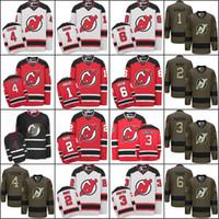 Wholesale Blue Greene - 2017 men New Jersey Devils 1 Keith Kinkaid 2 John Moore 3 Ken Daneyko 4 Scott Stevens 6 Andy Greene Hockey Jerseys Stitched.