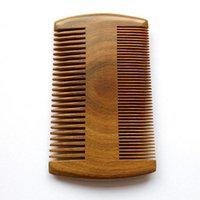 Wholesale Hair Tooth Comb - 9.5cm * 5.5cm Natural Sandalwood Pocket Beard & Hair Combs for Men - Handmade Natural Wood Comb with Dense and Sparse Tooth
