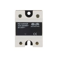 Wholesale Miniature Crosses - LDG Single Phase AC Solid State Relay RS1A40D25 Load Current 25A Zero Crossing Type TRICA SSR Relay Module