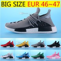 Hot BB3068 Yellow HUMAN SPIECES 8 cores Pharrell Williams X NMD HUMAN RACE Top REAL BOOST Bottom Com Nipples Mens Running Shoes tamanho 36-47