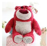 ingrosso orsi di fragole-Regalo originale della bambola del giocattolo della peluche degli animali farciti morbidi dell'orso della fragola di Lotso originale