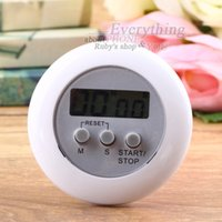 Atacado-Cute Mini Round Display LCD Digital Cooking Home Kitchen Countdown Timer Count Down Up Alarme Venda quente