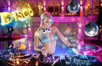 ingrosso carta da parati dorata di lusso-carta da parati personalizzata 3d soggiorno Nightclub sexy DJ bellezza sfondi 3d per la parete di lusso oro carta da parati