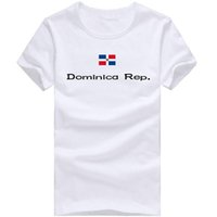 Wholesale Bright Tee Shirts - Dominica Rep T shirt Outdoor sport short sleeve Bright emblem tees Nation flag clothing Unisex cotton Tshirt