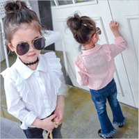 Wholesale Kid Clothing Cheap China - China wholesale cheap kids clothes 2017 fashion spring long sleeve white pink lace blouses shirts girls princess cotton tops for children