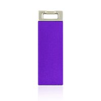 Wholesale Square Usb Drive - HanDisk Purpke matte Metal Square Head Drive 128MB 1 2 4 16 32 64 128gb Usb Flash Drive Portable USB Memory stick External Hard Drive EU033