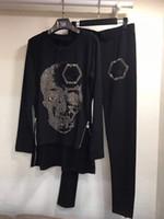 Wholesale New Style Hot Women Jackets - new style 100% cotton skull hot drill jacket irregular zipper decoration suit