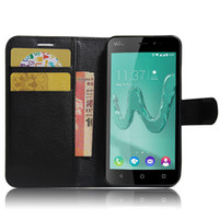 Wholesale Card Wallet Rainbow - Phone Case For WIKO Tommy Fever 4G Robby Cink Slim Rainbow Upulse Lite Flip PU Leather Litchi Texture Card Wallet Cover