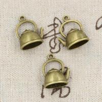 Wholesale Tibetan Teapot Antique - Wholesale- 99Cents 4pcs Charms kettle teapot 20*17*10mm Antique Making pendant fit,Vintage Tibetan Bronze,DIY bracelet necklace