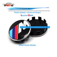 Wholesale Alpina Bmw - 4pcs 68mm 10clips claw black base for M ALPINA  AC BLUE White  black white car wheel center caps for E60 E90 F10 F30 F15 E63 E64 E65 E86