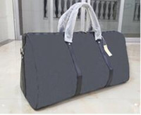 Wholesale High Capacity Luggage - 2017 large capacity women travel bags famous classical designer hot sale high quality men shoulder duffel bags carry on luggage keepall 45CM