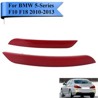 2x Clear Red Lens Rear Reflector Warn Light Strips pour BMW 5-Series 520i 528i 530i 535i 550i F10 F18 2010 2011 2012 2013 Car-Styling # W102