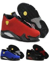 Wholesale Fusion Sport Sneakers - 2017 Wholesale air retro 14 XIV man basketball shoes Fusion Purple Black Red Retro Playoffs 14 sneakers sports shoes Eur Size 41-47