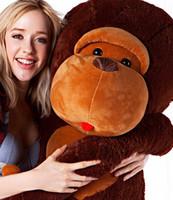 большая мягкая плюшевая обезьяна оптовых-Оптовые дешевые Гигантские Огромные Большие Большие Чучела Животных Мягкий Плюшевый Коричневый Обезьяна Медведь Кукла Плюшевые Игрушки