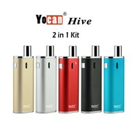 Single cartridge kits - Yocan Hive Kit For Wax Juice mah Battery Box Mod For Wax Atomizer Ce3 Cartridges Included Ecig Kit Colors
