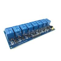 elektronik modüller ücretsiz gönderim toptan satış-Ücretsiz kargo Arduino için 5 V 8-Channel Röle Modülü Kurulu PIC, AVR MCU DSP ARM Elektronik En Iyi fiyat 8 Kanal Röle Modülü