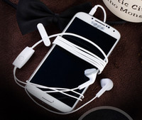 ingrosso controllo del volume delle cuffie senza vivavoce-Cuffie auricolari vivavoce originali da 3,5 mm con controllo remoto del volume e microfono per Samsung Galaxy S5 spedizione gratuita