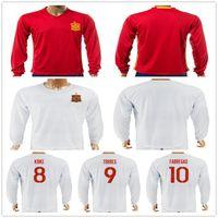 Wholesale Spain Long Sleeve - 2017 2018 Spain Long Sleeve Football Jersey Shirt A. INIESTA SILVA FABREGAS TORRES RAMOS ISCO DIEGO COSTA MORATA KOKE Espana Soccer Jerseys