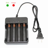 Wholesale Led Battery Power Indicator - KC Fire Black Color Universal Electric Power Charger 3.7V 9800mAh 4x 18650 Li-ion Rechargeable Lithium Battery Smart Charger Indicator