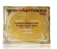 Wholesale Face Products - HOT sale Gold Bio-Collagen Facial Mask Face Mask Crystal Gold Powder Collagen Facial Masks Moisturizing Anti-aging beauty products in stock