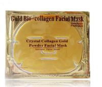 satılık biyo toptan satış-SıCAK satış Altın Bio-Kolajen Yüz Maskesi Yüz Maskesi Kristal Altın Tozu Kollajen Yüz Maskeleri Nemlendirici Anti-aging güzellik ürünleri stokta