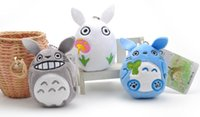 24PCS Mix 3Colors - Delicados 9CM My Neighbor TOTORO Plush Toy, Corrente chave DOLL TOY Plush Stuffed TOY DOLL