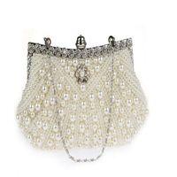 Wholesale handmade bags purses - 2017 New Euramerican Fashion handmade jeweled crystal pearl evening bag purse Wedding Bridal bags Party Bags