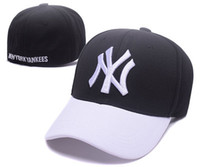 Wholesale types hats caps - 2018 trend NY men women baseball hats Fully enclosed type Elastic adjustment fashion Sun outdoor Mountaineering hat sports Male Female cap