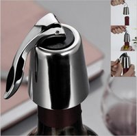 Wholesale Closure Homes - Stainless Steel Vacuum Sealed Red Wine Storage Bottle Stopper Sealer Saver Preserver Champagne Closures Lids Caps Home Bar Tool YYA195