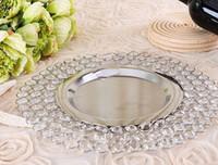 hochzeit platten ladegeräte großhandel-Anbieter von Hochzeitsfeiern aus Gold oder Splitter aus Kristallglas