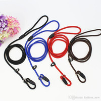 Wholesale Dog Training Rope Lead - High Quality 4 Colors Pet Dog Puppy Training Leash Traction Lead Rope Belt & Adjustable Collar Dog Supplies