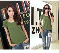 Wholesale Rh T - Women T-shirt Summer 2017 Brand Casual Cotton Shirts Short Sleeve t shirt Solid Summer tops tee female RH-6000