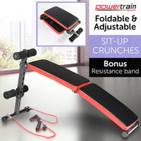 NUEVA DECLINACIÓN SENT UP HOME GYM WEIGHT BENCH PRENSA FITNESS SITUP w / RESISTANCE BANDS