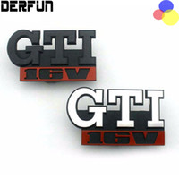 Wholesale Gti Chrome - GTI 16V Grille Emblem for Volkswagen VW GOLF GTI 16V Car Grille Grill Badge GOLF Matt CHROME 3D ABS Badge